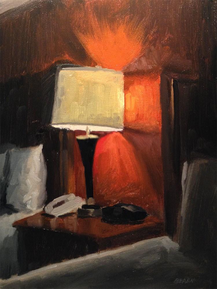 """Wheaton Illinois Hotel Room"" original fine art by Chris Beaven"