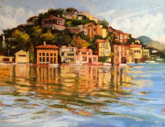 """Corinthian Island"" original fine art by Deborah Newman"