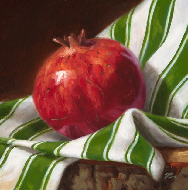 """Pomegranate and Stripes"" original fine art by David Capalungan"