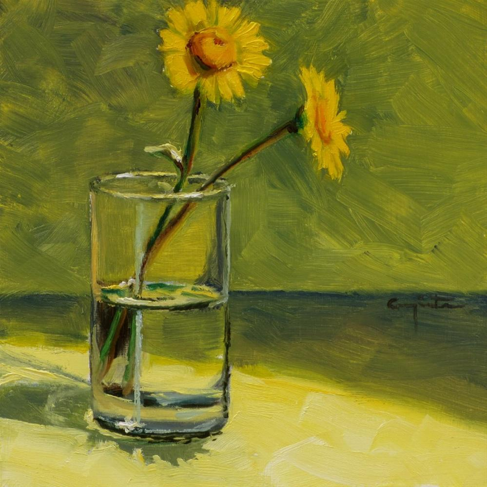"""Corn Marigold"" original fine art by Eduardo Carpintero"