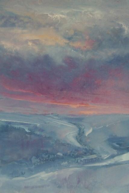 """""""Winter Mist"""" original fine art by Anne Wood"""