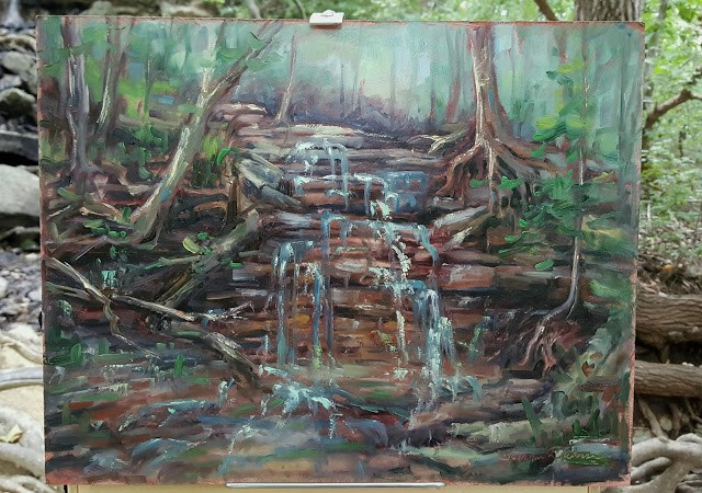"""Upper Falls of Sanctuary"" original fine art by Tammie Dickerson"