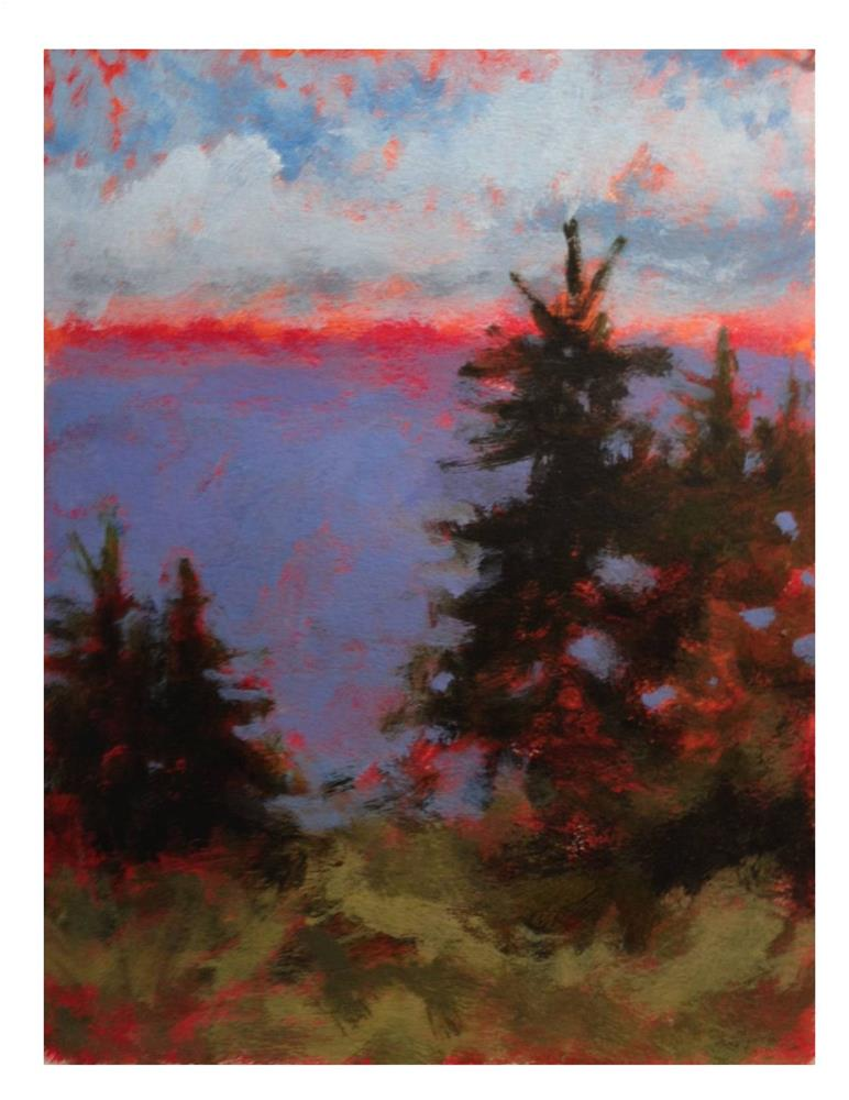 """Pink Horizon"" original fine art by Suzanne Woodward"