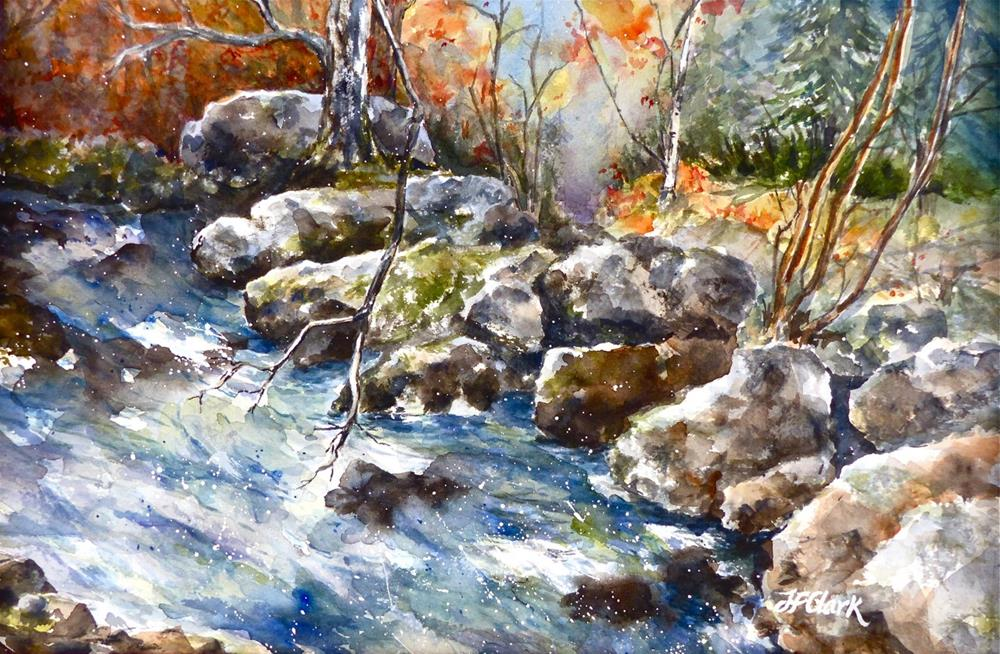 """Fall in Warner, New Hampshire"" original fine art by Judith Freeman Clark"
