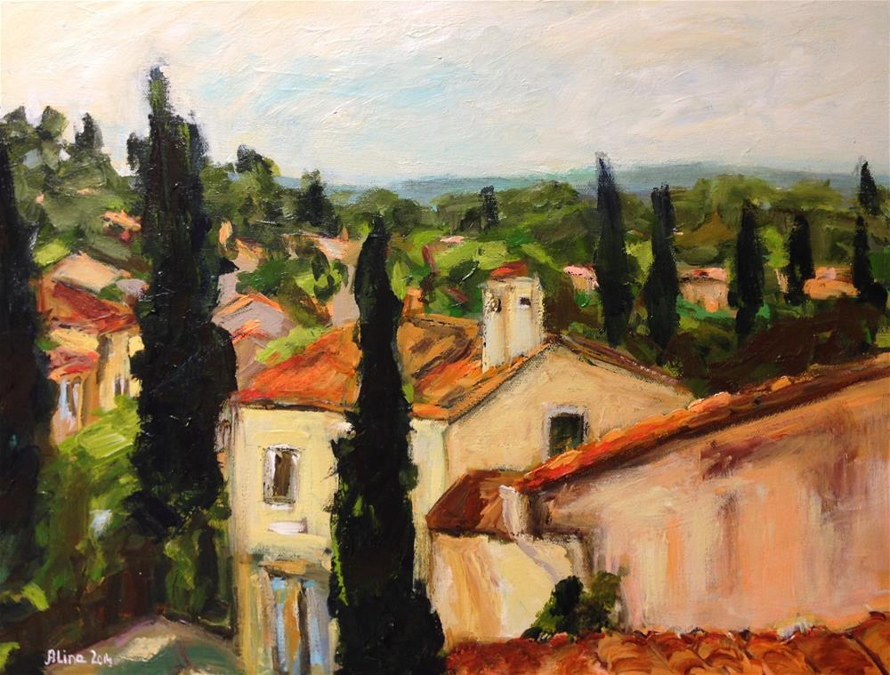 """View in Roussillon"" original fine art by Alina Vidulescu"