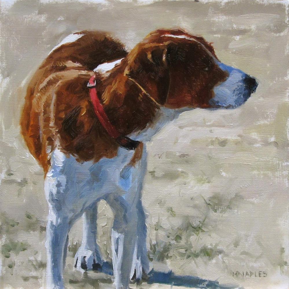 """Red Collar"" original fine art by Michael Naples"