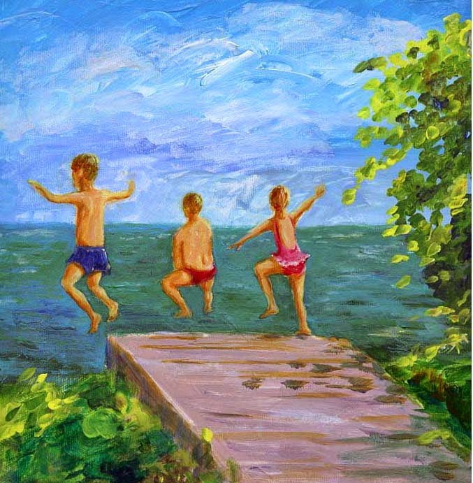 """I'm Wishing for Summertime to Hurry Back"" original fine art by Sue Furrow"