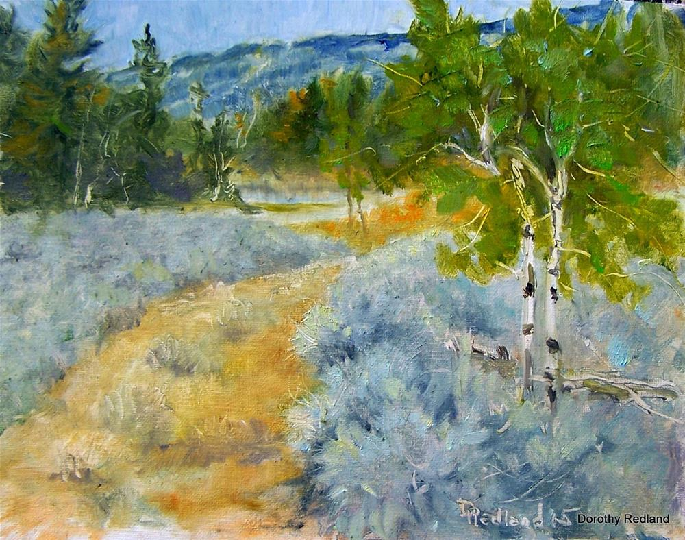 """rOAD TO THE BEAVER POND"" original fine art by Dorothy Redland"