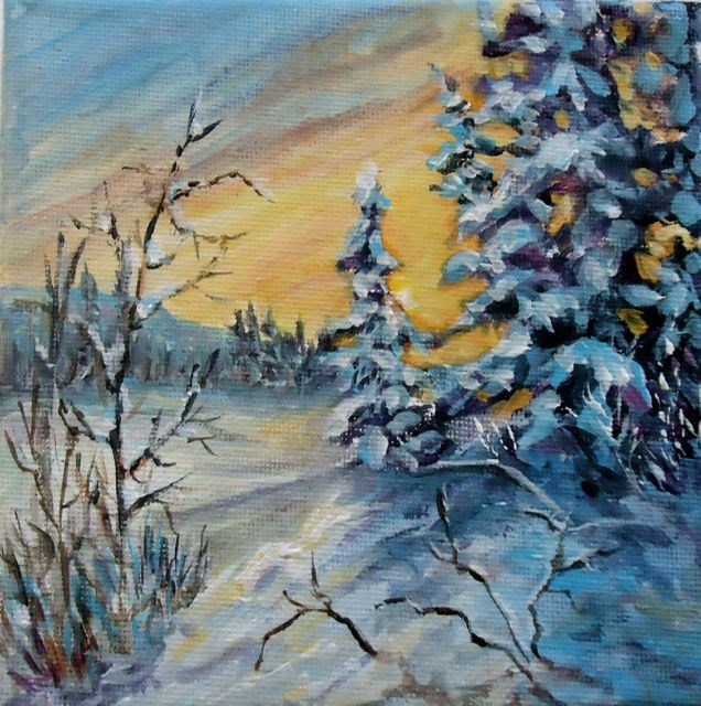 """December Evening Magundy"" original fine art by Jackie Irvine"