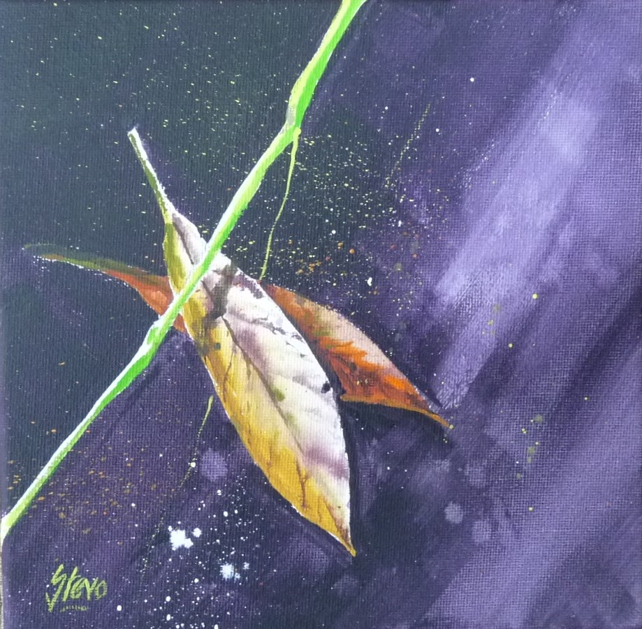 """Leaves and Grass I"" original fine art by Martin Stephenson"