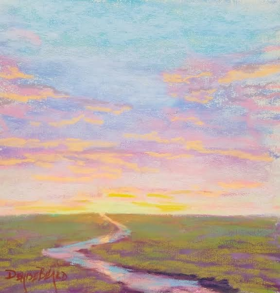 """Pastel Sky"" original fine art by Denise Beard"