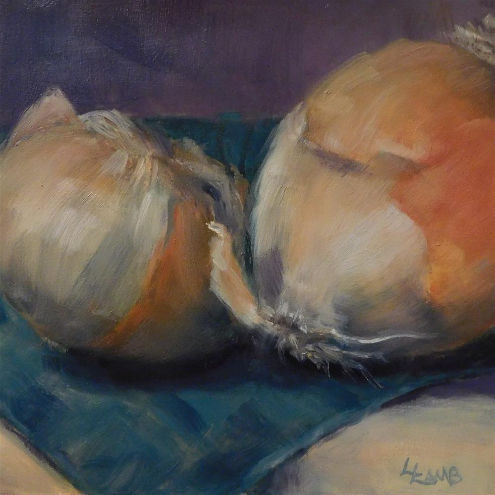 """Another Onion Study"" original fine art by Lori L. Lamb"