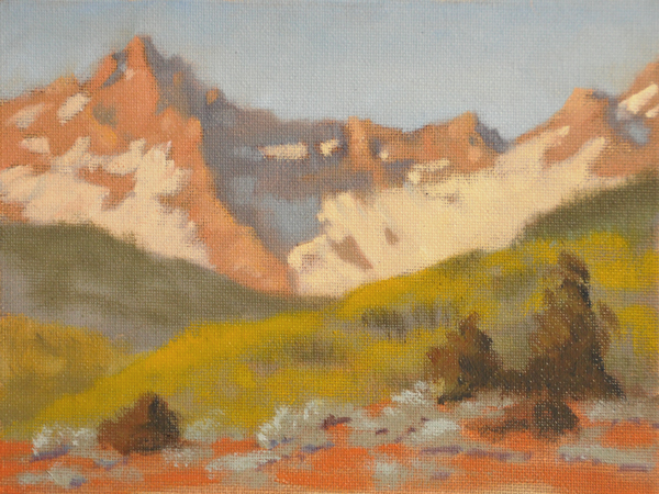 """Spring near Dallas Peak"" original fine art by Susan Matteson"