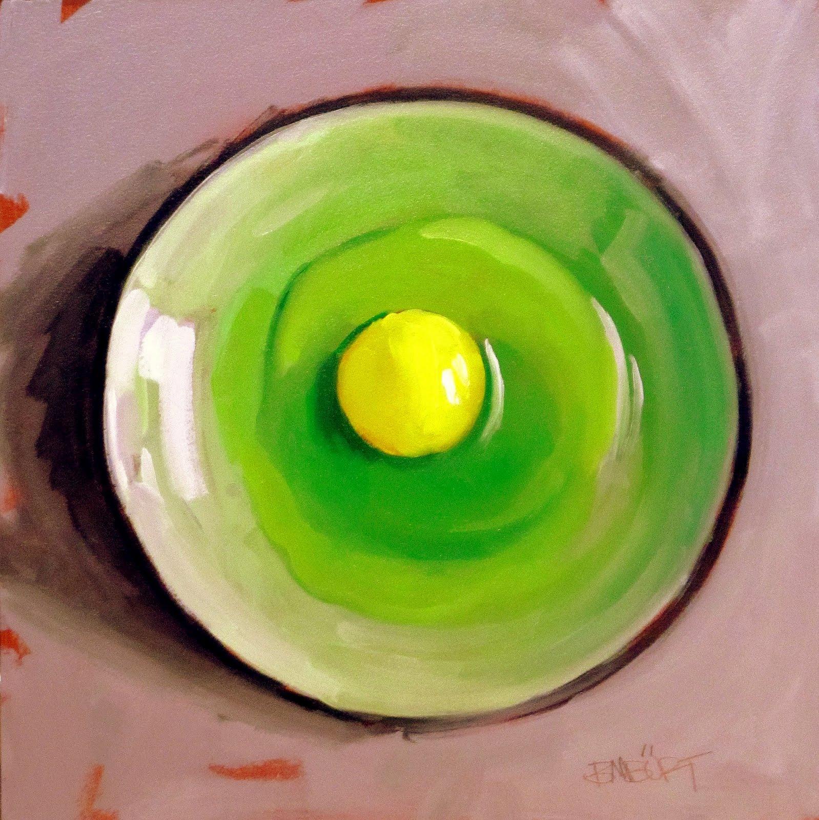 """ART 4 DIAPERS (DAILY DIAPER #174) Green Eggs Sans Ham"" original fine art by Brian Burt"