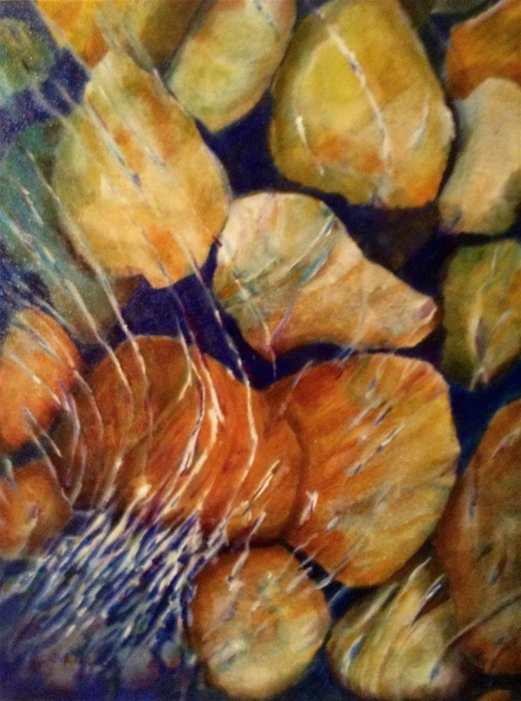 """Rocks&Ripples"" original fine art by Christiane Kingsley"