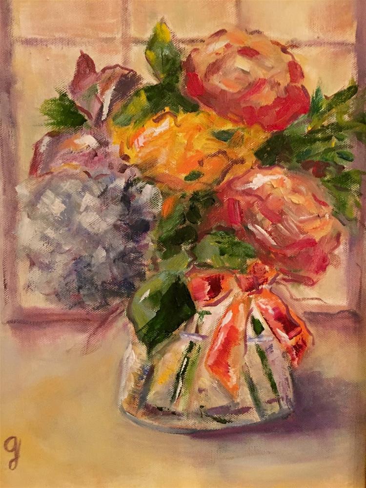 """Kate's Bouquet"" original fine art by Gayle Lambeth"