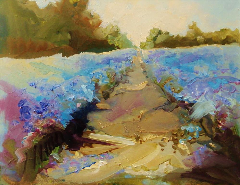 """""""West Field"""" original fine art by Anne Wood"""