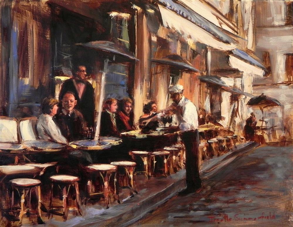 """""""Cafe in Montmartre III"""" original fine art by Jonelle Summerfield"""