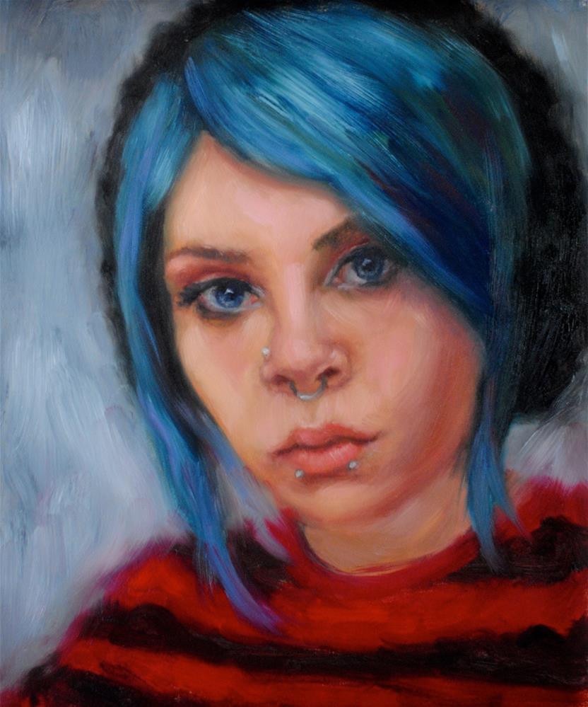 """""""Blue"""" original fine art by Kelly Berkey"""