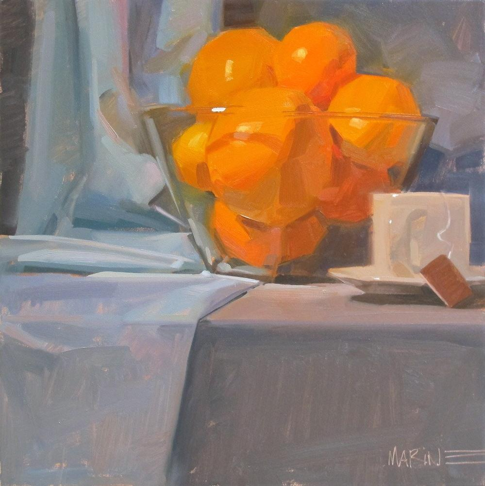 """Orange Tea"" original fine art by Carol Marine"