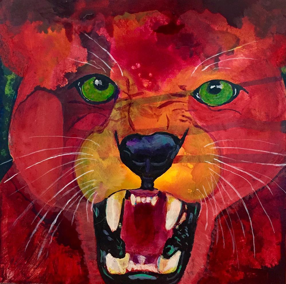 """#26 Hello!"" original fine art by Silke Powers"