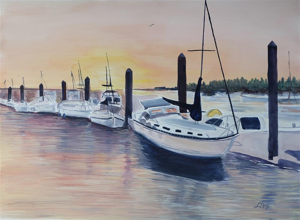 """Weekend Getaway"" original fine art by Laura Denning"