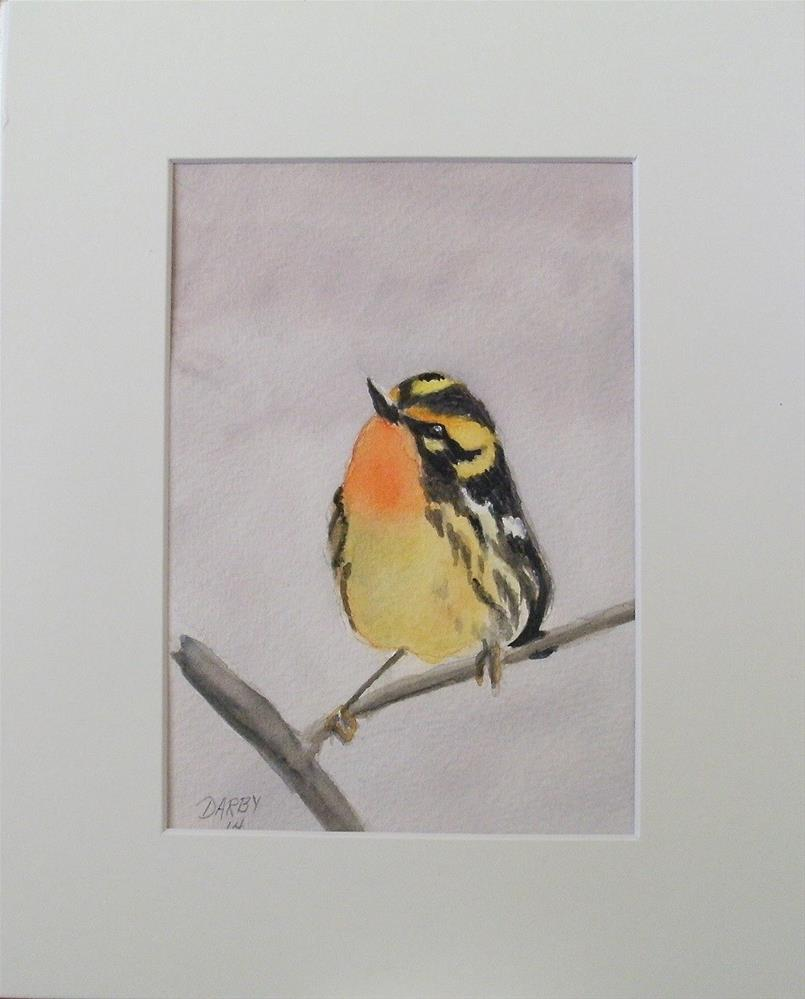 """Blackburnian Warbler"" original fine art by Lynn Darby"