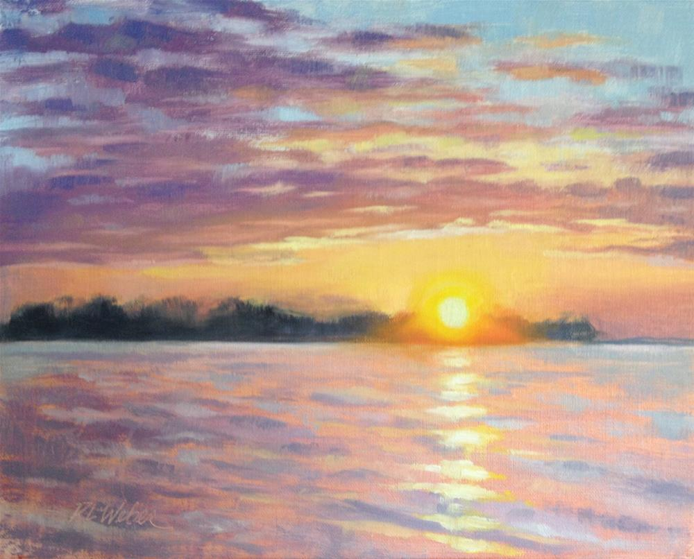"""Last Light in Sand Bay"" original fine art by Rl Weber"