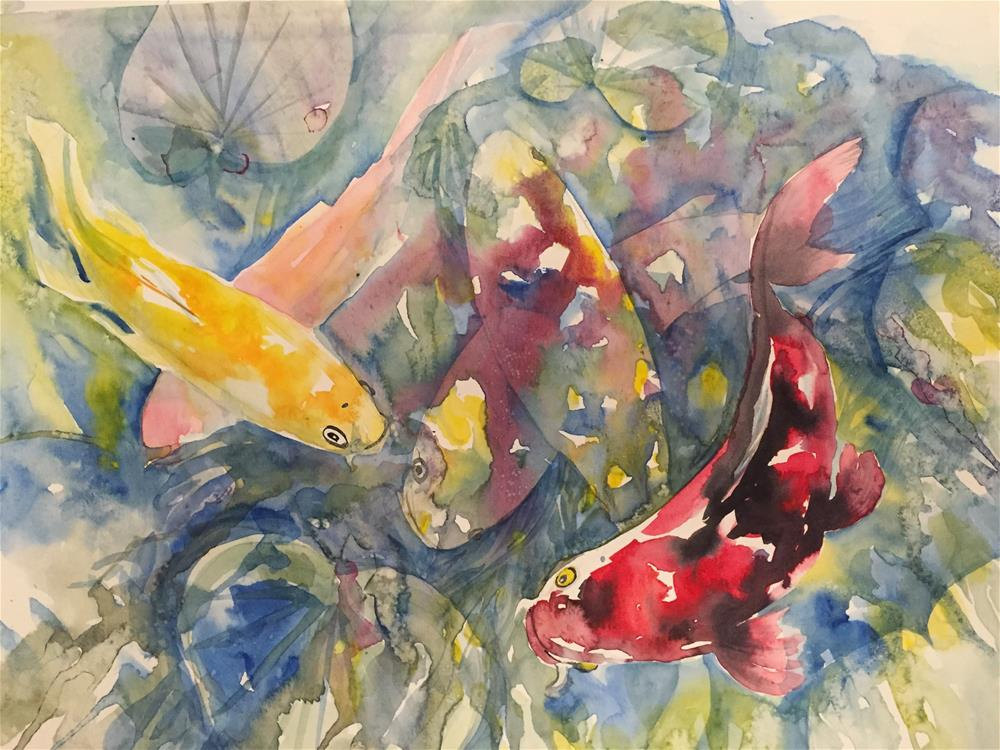 """Koi wc3"" original fine art by Natasha Ramras"