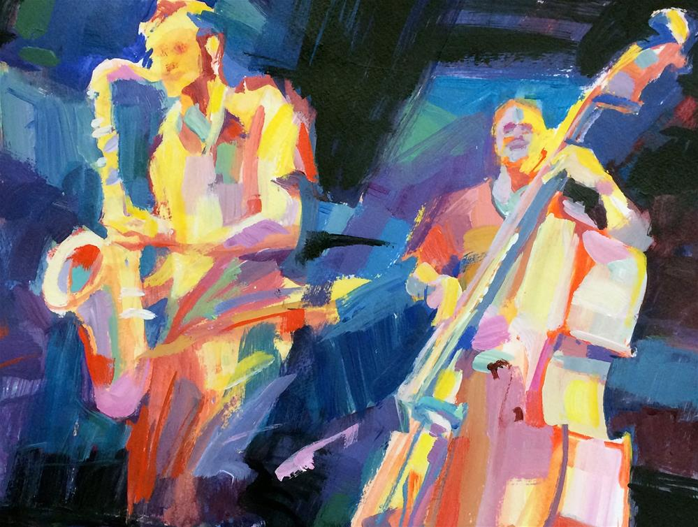 """JazzJam"" original fine art by Patti Mollica"