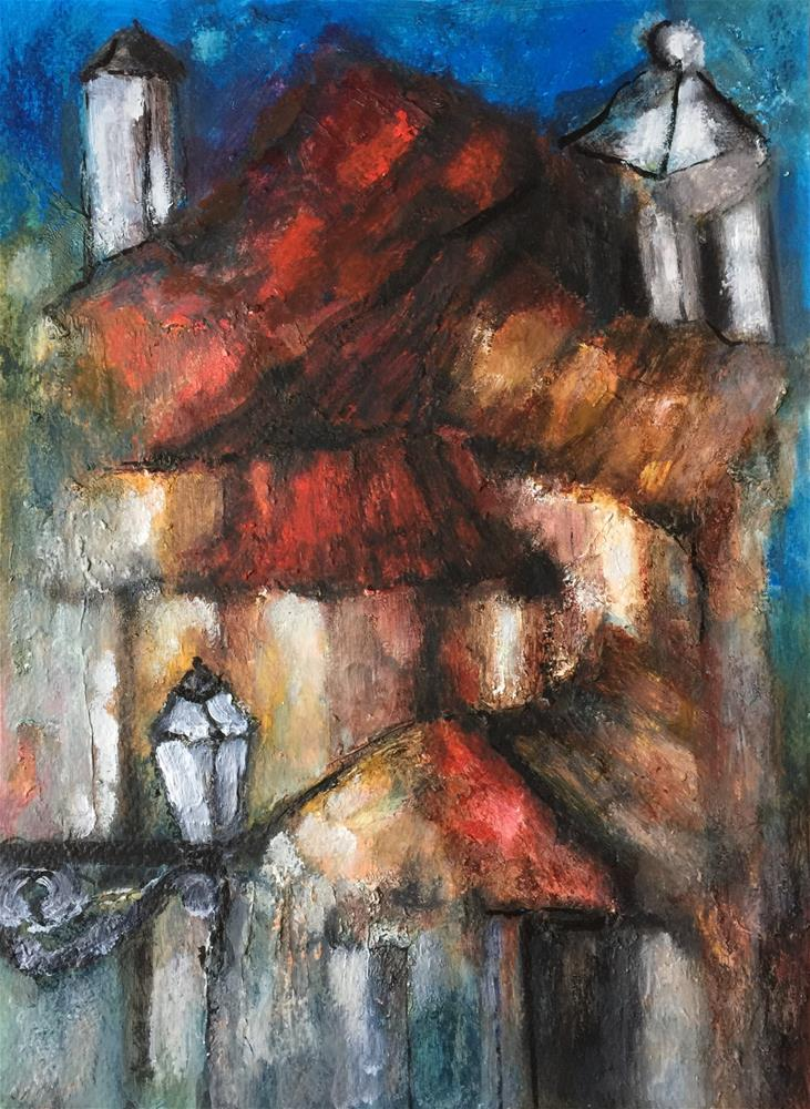 """Old street light"" original fine art by Monica Pinotti"