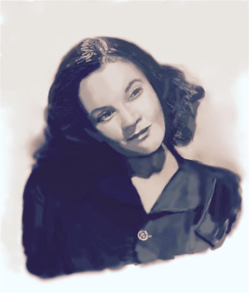 """Vivien Leigh"" original fine art by Fred Medley"