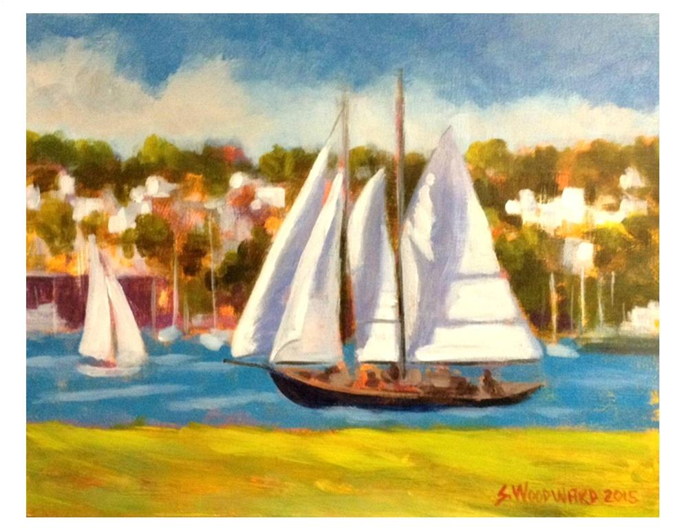 """Austin's Boat"" original fine art by Suzanne Woodward"