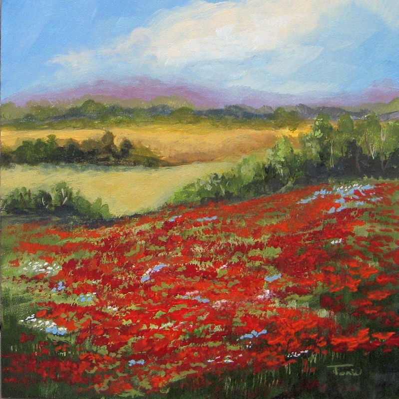 """Highway Poppies"" original fine art by Torrie Smiley"