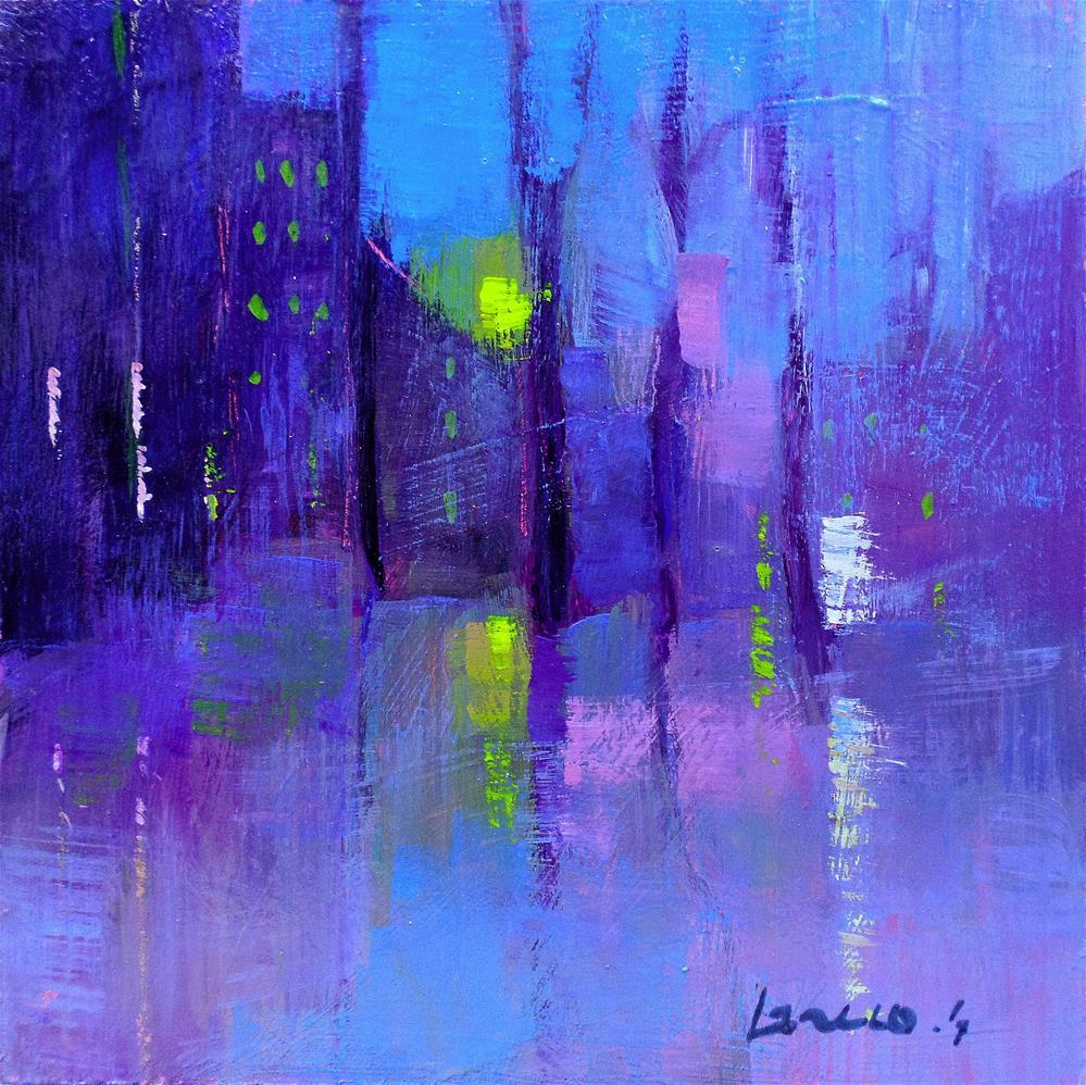 """""""Fog in the city"""" original fine art by salvatore greco"""
