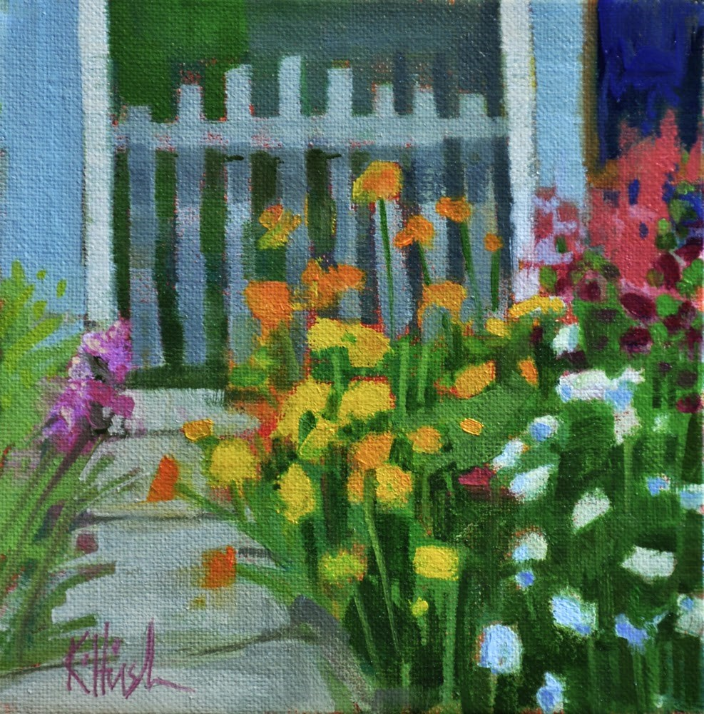 """Patty's Gate"" original fine art by kathy hirsh"