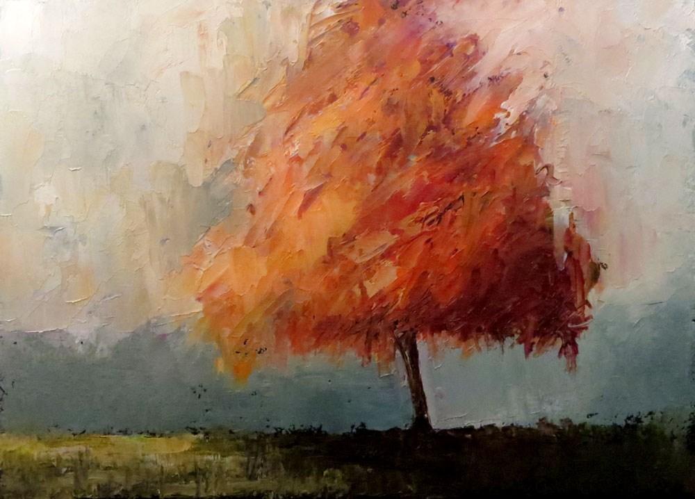 """Orange Glory Maple"" original fine art by Bob Kimball"