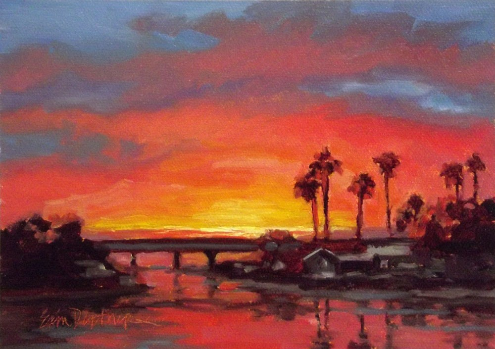 """So SoCal"" original fine art by Erin Dertner"