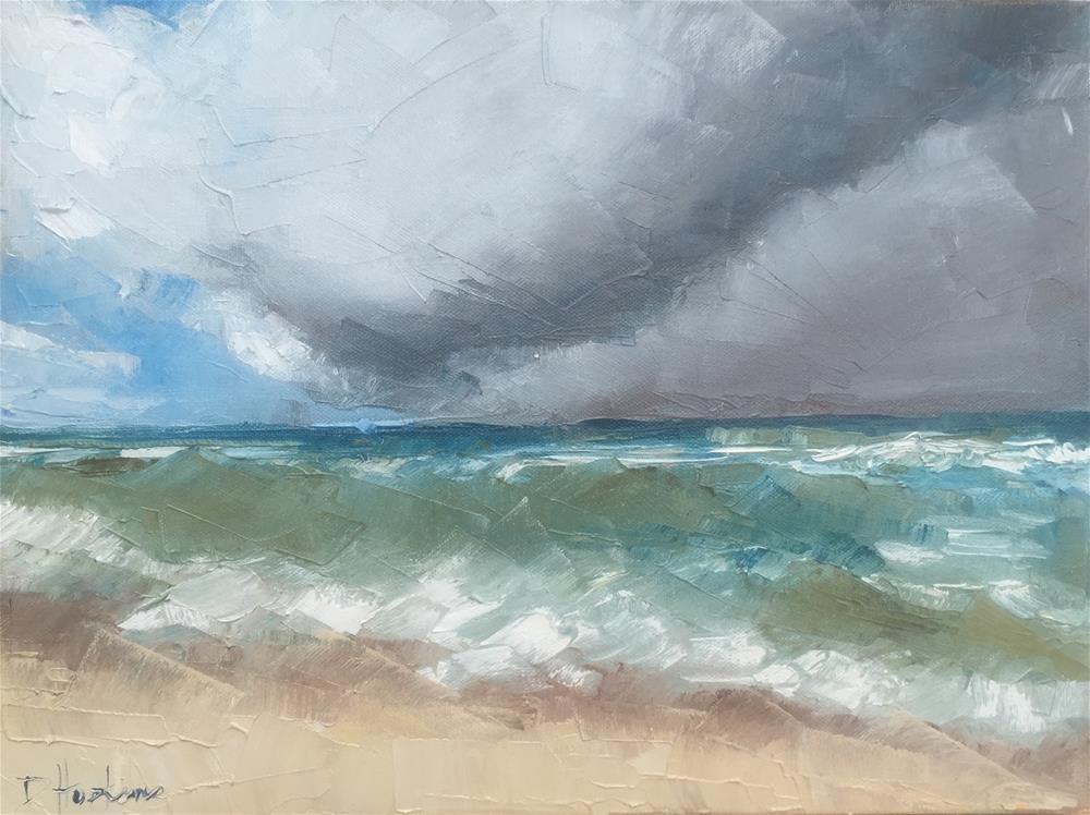 """Storm's A Comin'"" original fine art by Denise Hopkins"