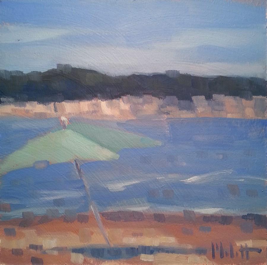 """Saturday at the Beach Impressionism Daily Oil Painting"" original fine art by Heidi Malott"