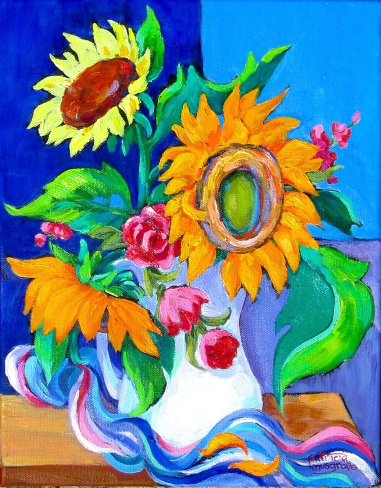 """Sunflowers, Tweaked!"" original fine art by Patricia Musgrave"