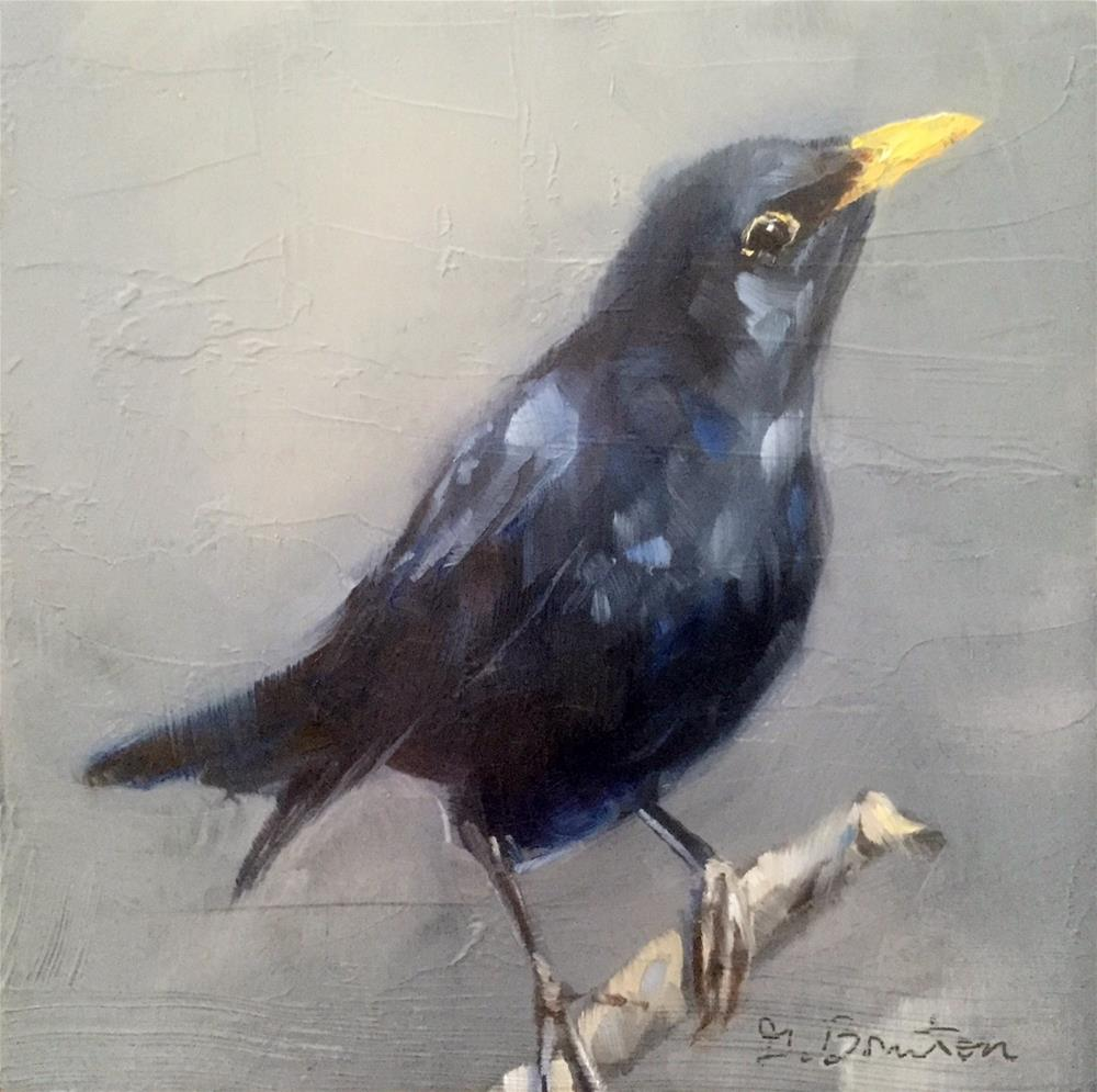 """Blackbird"" original fine art by Gary Bruton"
