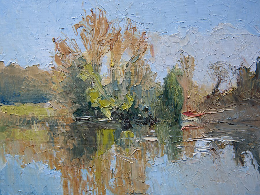 """Sackler Reflections"" original fine art by Jethro Knight"
