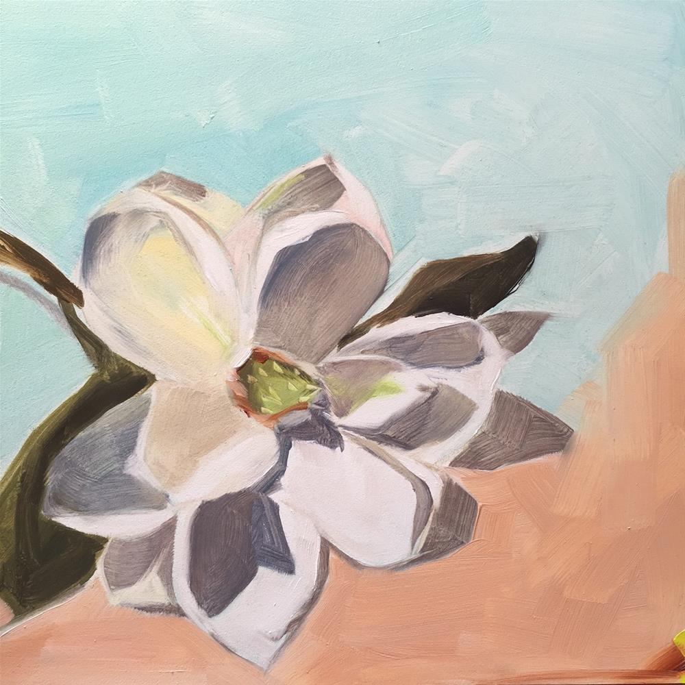 """211 Magnolia Mood"" original fine art by Jenny Doh"