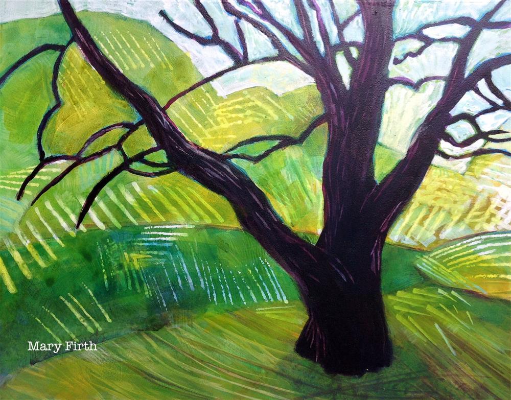 """black tree"" original fine art by Mary Firth"