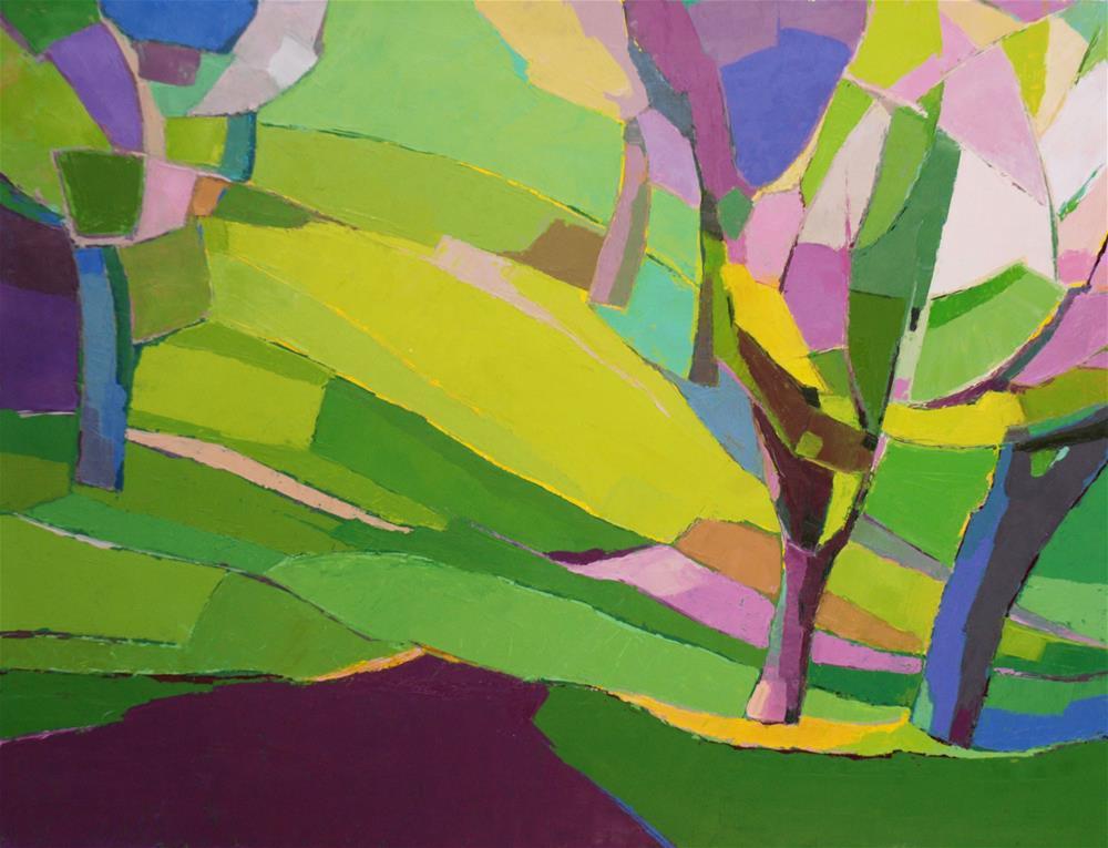 """Spring impressions"" original fine art by Olga Touboltseva-Lefort"