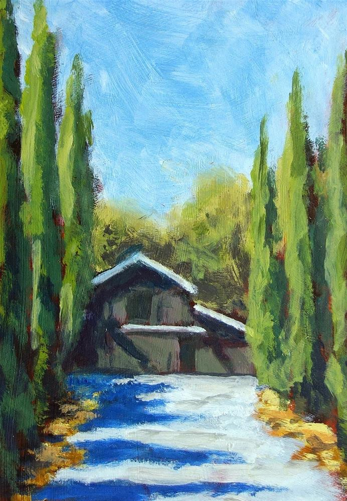 """Wine Barn"" original fine art by J. Farnsworth"