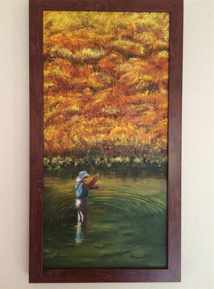 """""""Fly Fishing"""" original fine art by Kenny Arnold"""