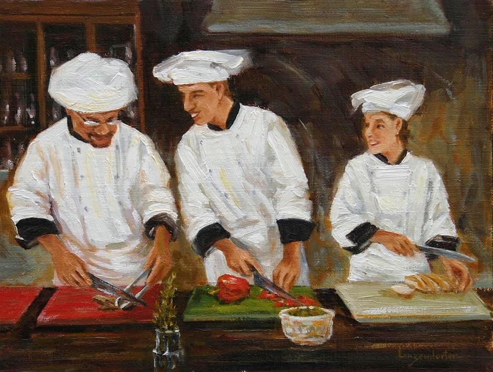 """SOUS CHEF (or you'll have to touch it sometime)"" original fine art by Dj Lanzendorfer"