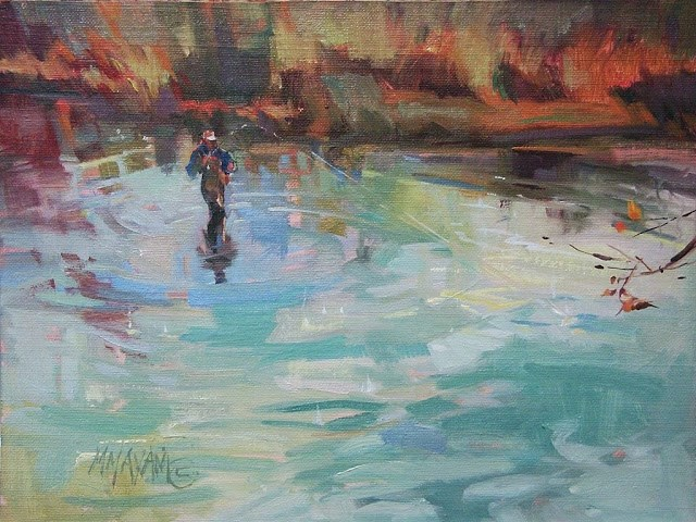 """You Should've Been There"" original fine art by Mary Maxam"